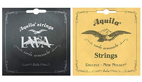 (Aquila Lava Series Tenor Ukulele String Set Regular High G Tuning with Aquila corde armoniche New Nylgut, Ukulele, Soprano Regular Ukulele Strings)