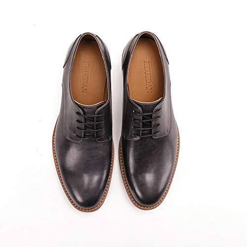 para Estilo de Hombres Brogues Mano Black genuinos Zapatos Black Cuero Zhuxin a Hechos de británico EU 46 Color Zapatos Oxford Size q1FAgOnwx