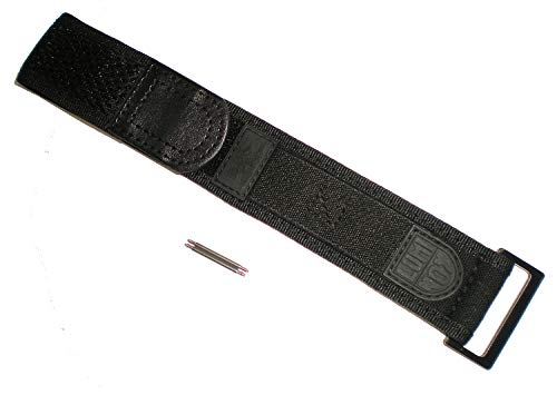 Blackout EVO Wide Band Luminox FN-3950-23-BO-1 Nylon Watch Band Strap Black Out 22/23 mm Series 3000/3900/3050/3080 ()