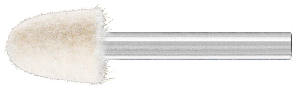 PFERD 48600 Conical Felt Point, Shape KEL, 9/16'' Diameter x 3/4'' Length, 1/4'' Shank Diameter x 1-5/8'' Shank Length, 31500 Max RPM (Pack of 10)
