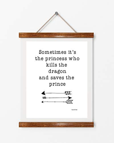 Feminist woman quote, dragon slayer, princess, motivational quote, girl - Dragon Poster Slayer
