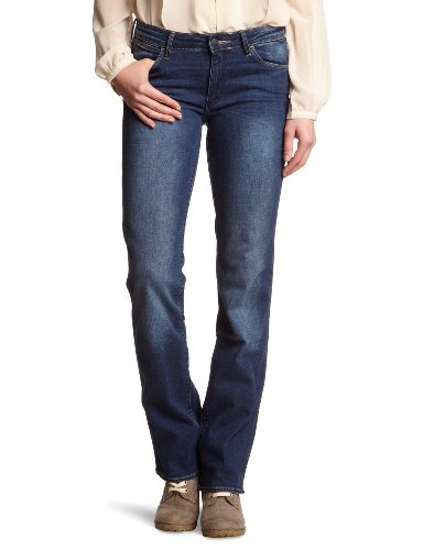 Wrangler - Sara - Jeans - Droit - Femme Bleu (Dark Blue)