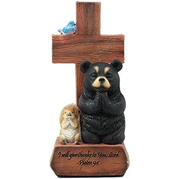 Amazon com: Ebros Give Thanks Black Bear Squirrel and Bluebird