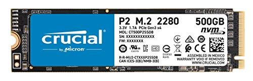 Crucial P2 500GB 3D NAND NVMe PCIe M.2 SSD Up to 2400MB/s