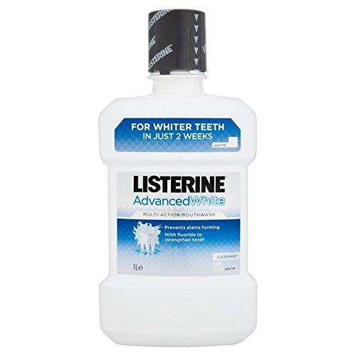 Listerine Advanced Whitening Mouthwash 1L (Pack of 6) - リステリンは、マウスウォッシュの1リットルをホワイトニング高度 x6 [並行輸入品] B0716DGMCP