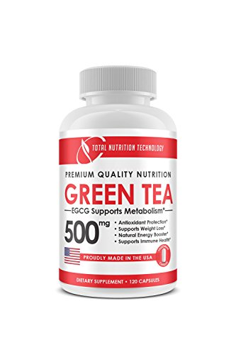 Green Tea Extract 500mg - 120 Vegetarian Capsules - EGCG - Supports Weight Loss and Boost Metabolism - Energy - Immune Health - TNT Supplements