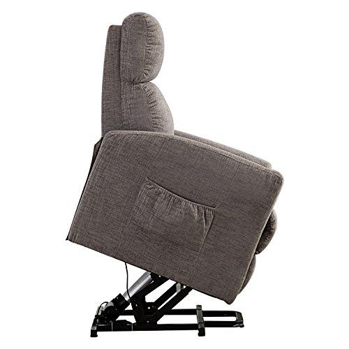 BONZY Gentle Motor Micro Fiber Covered Lift Recliner Chair, Chocolate
