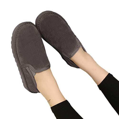 Basse Basse Basse Scarpe Classico Lovers Scarpe di Unisex Unisex Unisex Inverno Aiweijia Cotone Grigio wTFqff