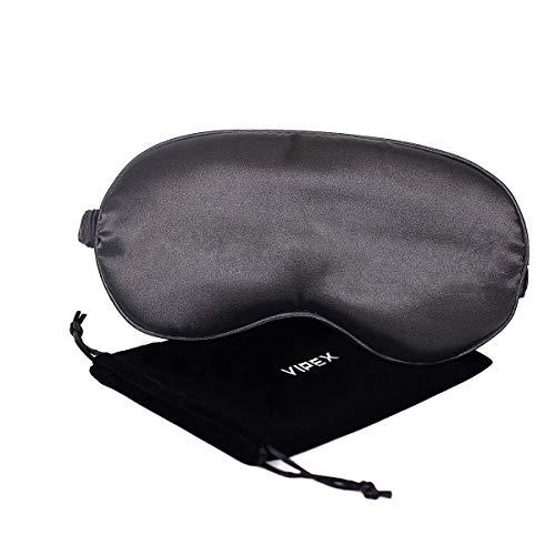 (Sleep Mask for Women - 100% Silk Comfortable & Soft Satin Eye Mask for Night Sleeping with Elastic Strap, Works with Night Sleeping/Nap/Travel, Comes with Storage Bag [1 Pack])