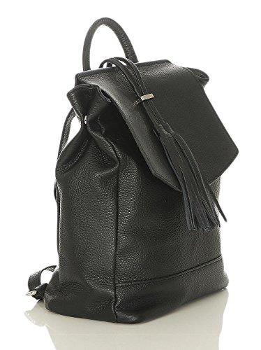 R600 Sac Bandoulière à Daypack la Sac dos malito Moda Femmes Couleurs à Cuir Noir 7wxpqzWTF