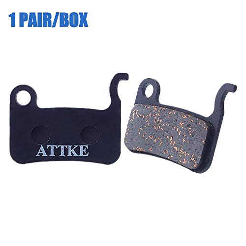 MTB Semi-Metal Disc Brake Pads for Outdoor Cycling Resin to Make Tablets Mountain Bike Bicycle M596 M775 M765 Deore SLX Friction Plate ()