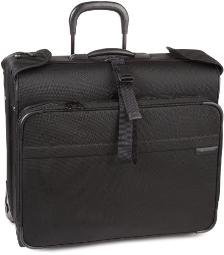 Briggs & Riley Deluxe Wheeled Garment Bag,Black,20x24x11.5