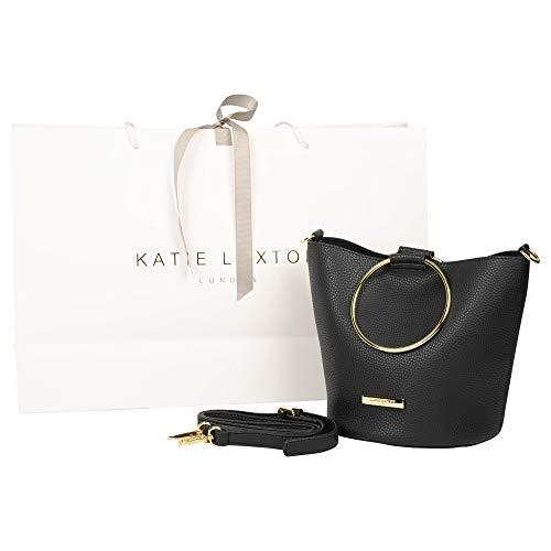 Mini Black 8 x 7 PU Leather Top Handle Suki Bucket Bag