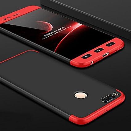premium selection 6dbab 1a37d Cocose 360 Degree 3 In 1 Matte Case For Xiaomi Mi A1 Full Body Cover Anti  Knock Hard Plastic Case for Xiaomi Mi A1- BLACK/RED