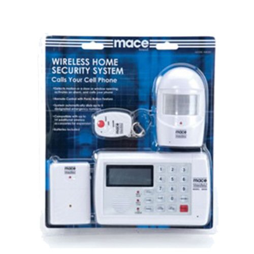 Spy-MAX Security Products Wireless Home Security System By Mace, Includes Free eBook