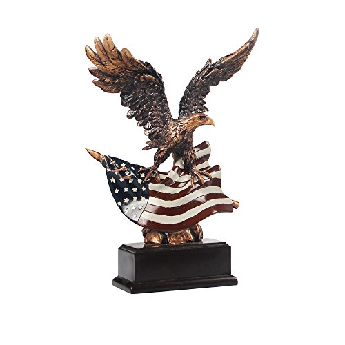 RUIHAI Eagle Statue Freedom's Pride American Eagle Sculpture Office Home Decor Figurine Gift