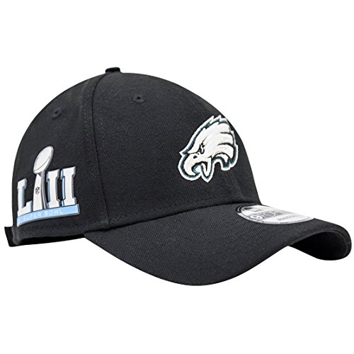 Philadelphia Eagles New Era Super Bowl LII Bound 9Forty Adjustable Hat – Black – DiZiSports Store