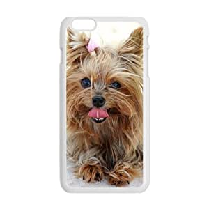 """Slim Stylish Protective Laser Print Cute Pet Doggy Yorkshire Terrier Diy Cover Case for iPhone 6 Plus Case 5.5""""-5"""