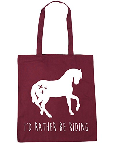 Rather Tote Riding I'd Be 42cm Beach Bag x38cm litres 10 Burgundy Gym HippoWarehouse Shopping 1UHqn