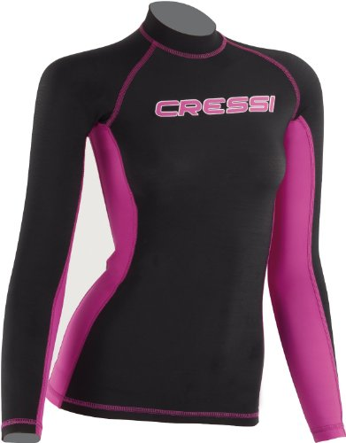 Lady Long Sleeve Rash Guard - Blk/Pink