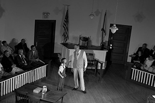 Vintography 18 x 24 B&W Photo of A Scene from The Play to Kill A Mockingbird, Performed in Monroeville, Alabama 2010 Highsmith 51a