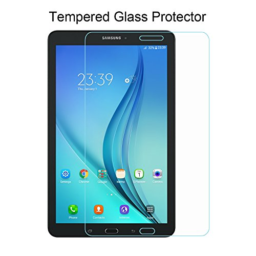 Samsung Galaxy Tab E 8.0 Screen Protector - ACdream Premium HD Tempered Glass Screen Protector for Samsung Galaxy Tab E 8.0 Inch Tablet 2016 Release with 9H Hardness / Scratch Resist - Ultra Clear