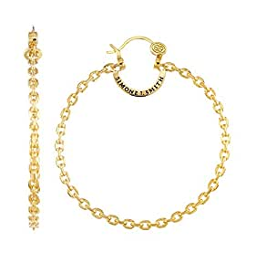 Amazon.com: Simone I. Smith 18kt Yellow Gold Over Sterling ...