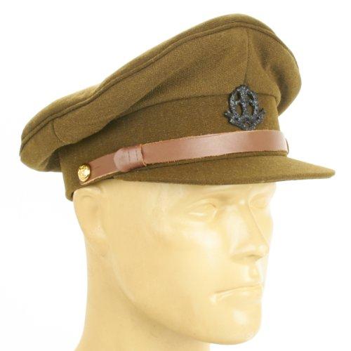 Officers Visor Hat (British WWII Officer Peaked Visor Cap- Size US 7.5 (60cm))