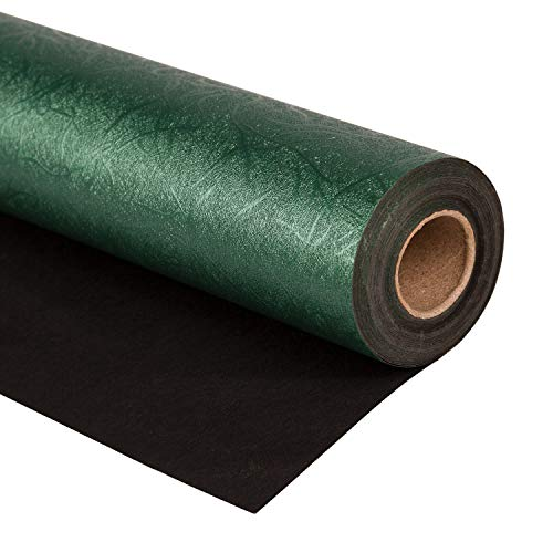 Green Paper Holiday Wrapping - WRAPAHOLIC Gift Wrapping Paper Roll - Reversible Green and Black for Birthday, Holiday, Wedding, Baby Shower Gift Wrap - 30 inch x 16.5 feet