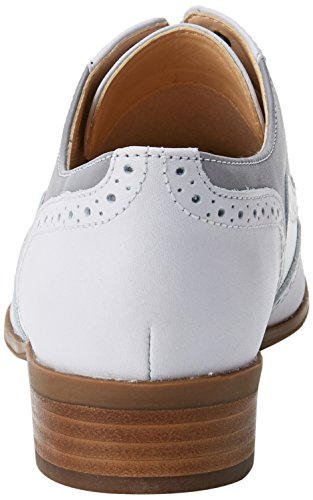 Oak Clarks Para Zapatos De Mujer Brogue Hamble Cordones Gris Combi Lea grey RxqpOw