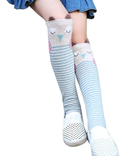 Color City Kids Girls Socks Knee High Stockings Cartoon Animal Theme Cotton Socks (Fox) (Animal Dress For Kids)