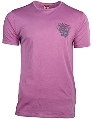 Men's Head Graphic T-Shirt-Orchid