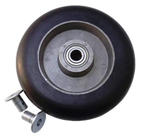 8'' X 2'' Balloon Cushion Rubber on Aluminum Wheel 450 lbs Capacity