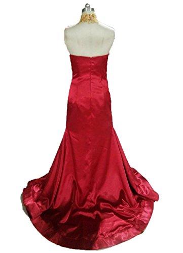Les Appliques En Or De Fanciest Femmes Sirène Robes De Bal Longues Robes De Soirée Divisée Corail