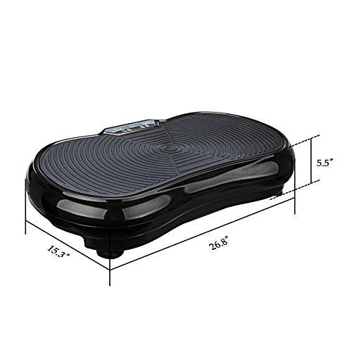Pinty Fitness Vibration Platform Whole Body Vibration Machine Crazy Fit Vibration Plate with Remote Control & Resistance Bands