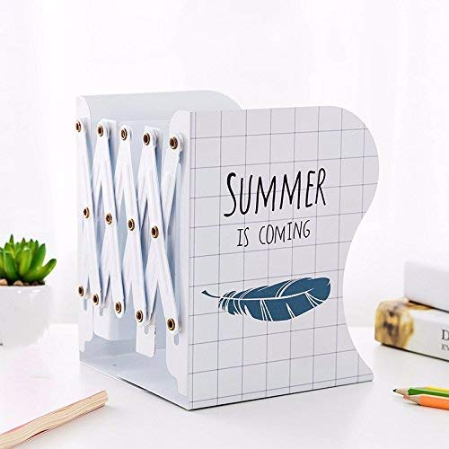 Dauerhafte Buchstütze Einziehbares Buchstützen-Rahmen-faltendes Buch-Regal-Buch durch Buchstützen älterer Studenten Dritter (Farbe   Weiß)