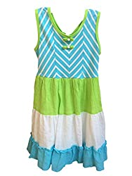 Jona Michelle Aqua and Green Chevron Sundress (7)