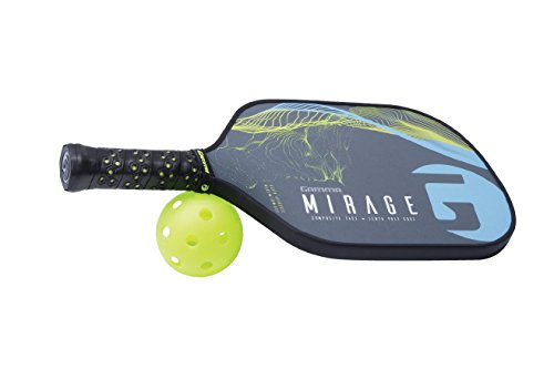 Gamma Mirage Composite Pickleball Paddle: Pickle Ball Paddles for Indoor & Outdoor Play - USAPA Approved Racquet for Adults & Kids - Blue/Yellow by Gamma (Image #6)