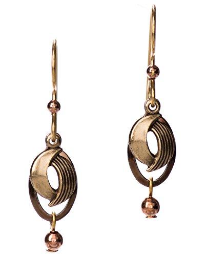 rl Brass-tone Swirl Earrings by Silver Forest ()