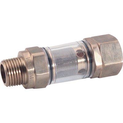 NorthStar Inline Water Filter - 1/2in. NPT-M x 3/4in. GH-F, Brass, Model# N100649P