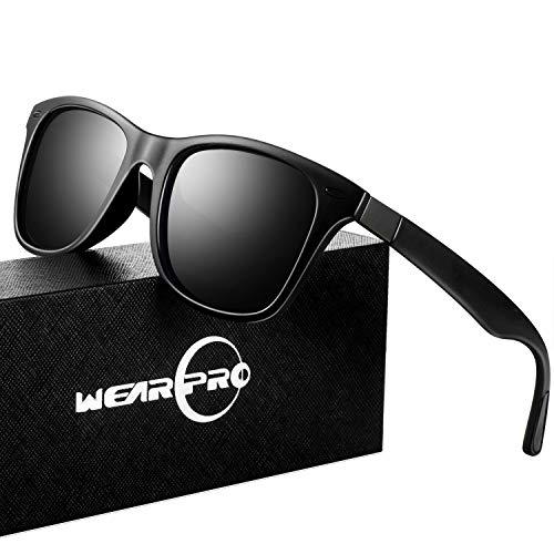 Mens Sunglasses for Men Vintage Polarized Sun Glasses WP1050 (BK/BK_nail, ()