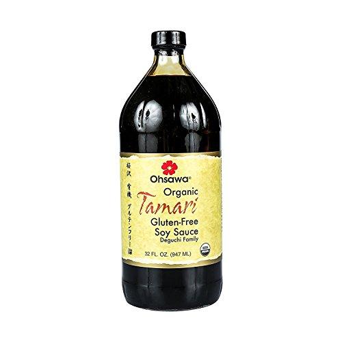 OHSAWA Organic Wheat Free Tamari Soy Sauce, 32 OZ
