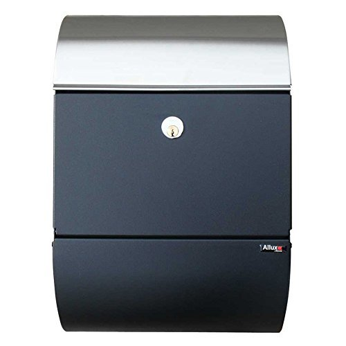 Qualarc ALX-3000-BS Allux Series Mailboxes Allux 3000 in Black with Stainless Steel Accent Door
