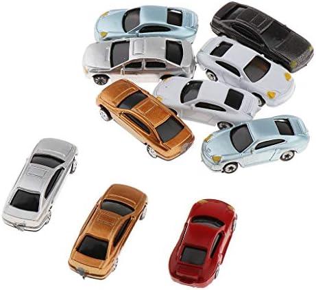 sharprepublic 自動車模型 モデルカー 電車模型 鉄道模型 列車風景 HOスケール マルチカラー 約10本入り 全3