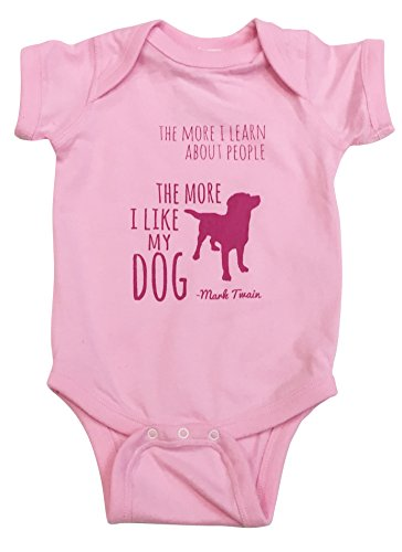 Amazoncom Like My Dog Mark Twain Baby Pink 100 Cotton Onesie