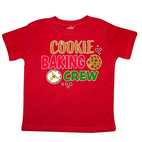 inktastic Christmas Cookie Baking Crew Toddler T-Shirt 2T Red