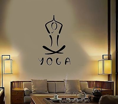 Vinyl Decal Yoga Meditation Buddhism Hinduism Hindu Wall ...