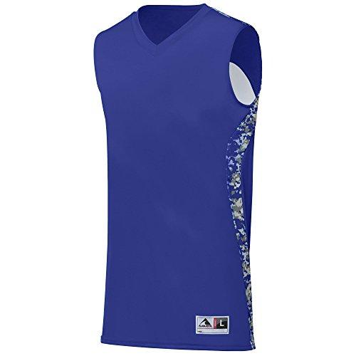(Augusta Sportswear Boys Hook Shot Reversible Jersey, Purple/Purple Digi,)