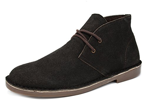 Bruno Marc New York Mens Classic Stivali In Chukka Desert Storm In Pelle Scamosciata Marrone