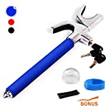 Steering Wheel Lock | Universal Anti-Theft Clamp Heavy Duty Vehicle Safety Rotary Adjustable Lock Self-Defense with 3...